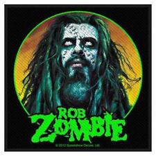 OFFICIAL LICENSED - ROB ZOMBIE - ZOMBIE FACE SEW ON PATCH METAL