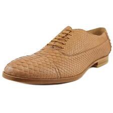 Scarpe da uomo marrone in pelle sintetica con stringhe