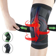 2X Knee Sleeve Compression Brace Support Pads Sport Joint Pain Arthritis Relief
