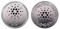 1.2 oz Physical Cardano ADA Iron Coin Token Round Chip Crypto Silver Color 44mm