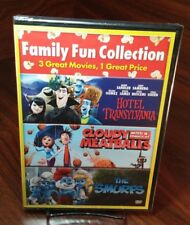 Cloudy with a Chance of Meatballs/Hotel Transylvania/Smurfs(DVD)NEW-Free S&H