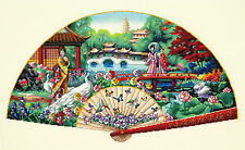 Cross Stitch Kit ~ Gold Collection Asian Garden Fan w/Geisha Women #70-35327