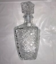 Glass Decanter Bar Scotch Liquor Whiskey Bottle SQUARE Stopper WINE Vodka