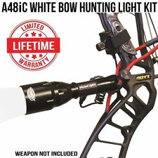 Wicked Lights A48IC White Bow Hunting Light Kit for Coyotes, Hogs, Bow Fishing