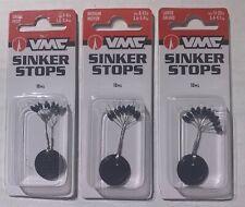 Vmc Sinker Stops 10pks Bass Fishing Lure Bait Bass, Walleye, Trout Fishing Lure