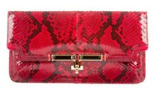 KARA ROSS PYTHON ENVELOPE PURSE