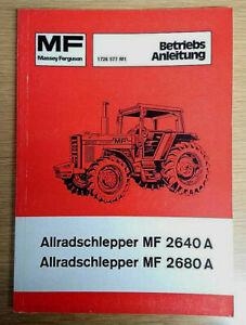 Betriebsanleitung MF 2640A, MF 2680A