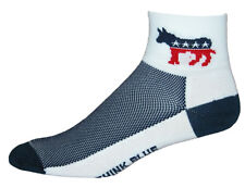 GIZMO Socks - Democrat - Running, Cycling, Fitness, CoolMax Large (Men's 10-13)