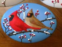 "Ceramic Bisque Bird Insert Ready to Paint "" FREE SHIPPING"""