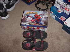 MARVEL SPIDERMAN SPIDER MAN BOYS SANDALS SHOES NEW WITH BOX SIZE 2 RED VELCRO