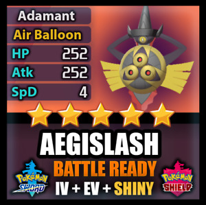 Pokemon Sword and Shield 6IV SHINY Aegislash BATTLE READY IV Can Breed w/ Ditto