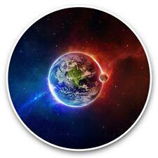2 x Vinyl Stickers 30cm - Earth Moon Space Nebula Galaxy  #44927
