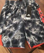 Boys Size 6 Adidas Shorts Gray And Orange Athletic Short Stylish NWT Sport Short