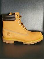 Timberland Men's 6-Inch Premium Waterproof Boots Wheat Nubuck 073540 Size 11