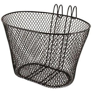 Bicycle Front Mesh Hang Quick Release Metal Basket Shopping Storage Lightweight