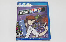 NEW SEALED Saturday Morning RPG Playstation PS Vita BEAUTIFUL SHAPE 2500 COPIES