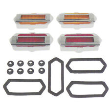 "Bazel /""Rear/"" Chrome Metal Dii 1969 Camaro Quarter Panel Side Marker Light Lamp"