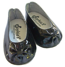"""For 18"""" American Girl Doll Clothes Black Patent Ballet Flats Shoes Pumps"""
