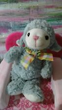 Lamb Plush Homerbest Cream pink cordoroy Gray Ruffled Fur Plaid Bow baby lovey
