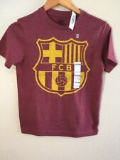 Old Navy Boys Barcelona FCB Yellow Crest Futbol Soccer Red T-Shirt Size M