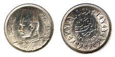2 Piastres AH1358-1939 Egitto Egypt Argento Silver #7052