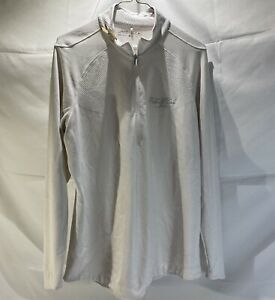 Womens Nike Golf Fallen Oak 1/4 Zip White/cream Color Size XL