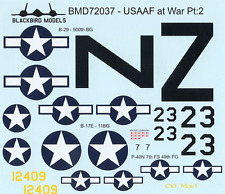 USAAF at War Pt:2 1/72nd scale decals
