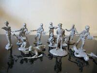 VINTAGE Gray Grey Plastic Army Man SOLDIER BMC LOT