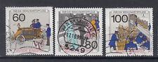 BRD Briefmarken 1990 Geschichte der Post Mi.Nr.1474-76 gestempelt