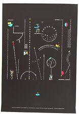 CALENDAR,DESIGN BY STUDIO W. BENJAMIN,RARE AUTHENTIC 1980's SERIGRAPH PRINT