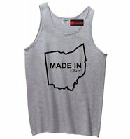 Made In Ohio Funny Mens Tank Top Home State Pride Holiday Gift Sleeveless Z3