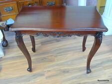 eckiger Tisch Holz massiv Mahagoni Deko Beistelltisch auch als 3er Kombination