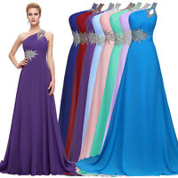 Ladies Chiffon Cocktail Formal Party Dresses Long Bridesmaid Ball Evening Gowns
