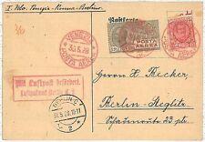 ITALIA storia postale - PRIMI VOLI - cat  SASSONE 111a: VENEZIA / ROMA / BERLINO