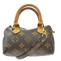 Auth LOUIS VUITTON Mini Speedy 2Way Hand Bag Monogram Leather M41534?67BQ967