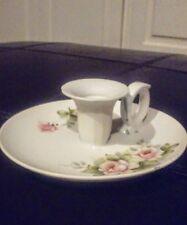 Vintage Andrea by Sadek Porcelain Floral Candle Stick Holder