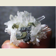 Quartz avec Sphalérite et Pyrite - Minéral naturel brut - 124 Carats - Brésil