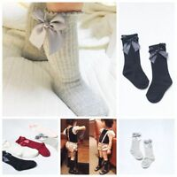 Baby Children Girls Toddler Bow Socks Soft Cotton Knee High Hosiery Tights Leg