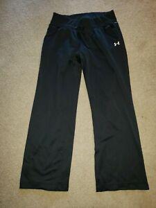 Under Armour Sweatpants Athletic Pants Womens sz Medium M MD Black Pockets