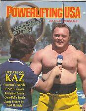 Powerlifting USA Weightlifting Muscle Magazine/Strongman Bill Kazmaier 8-88