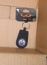 NEW NHL Edmonton Oilers Key Chain Gamewear (Made from elements of puck) NEW NWT