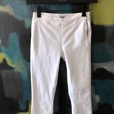 Paige Optic White Denim MOLLY Zip Pant Skinny Straight Leg Jeans sz 25 NWT