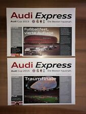 2 Programme Audi Cup 2015 FC Bayern München Real Madrid AC Milan Tottenham