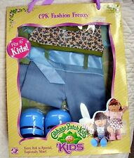 CABBAGE PATCH KIDS CPK FASHION FRENZY OUTFIT WITH SHOES - 2006 - BLUE JUMPER