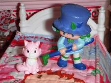 VINTAGE Strawberry Shortcake Miniature Doll & Cat for Loving Family Dollhouse