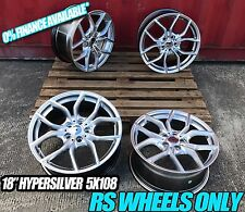 "18"" NEW RS ALLOY WHEELS FITS JAGUAR X TYPE S TYPE XF XJ XK J43 ALFA ROMEO 166"