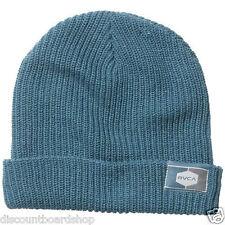 d5471512986 RVCA Crewman Celestial Blue Fold up Knit Cap Hat Men s Beanie