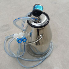 HIGA Portable Stainless Steel Goat Milker Milking Machine Bucket Tank Barrel 25L