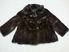 Jeannie Real Mink Fur Cropped Jacket Cape Bolero Slight A Line size UK 10/12