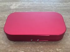 WHEATLEY TRADITIONAL STYLE ALUMINIUM FLY BOX DARK RED 16 WINDOWED COMPARTMENTS